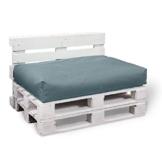 2er Set Palettenkissen  120x80x15cm + Rückenkissen 120x40x15 cm – In & Outdoor – viele Farben auswählbar - 1