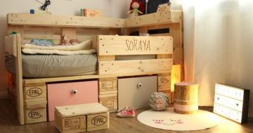 Palettenmöbel - Kinderbett aus Europaletten