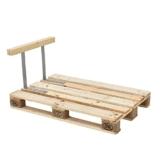 Lehne für Euro-Paletten-Sofa-Couch -  massiv Holzoptik