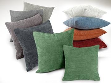 Kissenhülle 9 Farben in 4 verschiedenen Größen - passend für Schaumstoffauflagen (120 x 80 cm) und Standardkissenfüllungen, natur, 70 x 70 cm-7