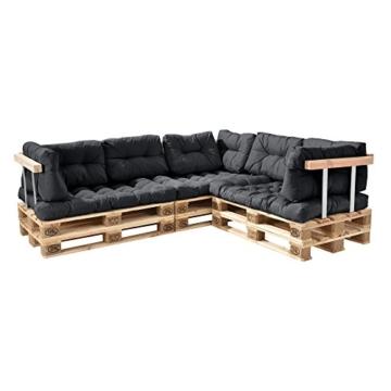 Palettenkissen - 11-teilig - Set zusammstellbar - Sitzpolster + Rückenkissen In/Outdoor-2