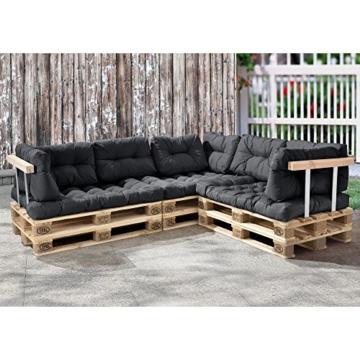 Palettenkissen - 11-teilig - Set zusammstellbar - Sitzpolster + Rückenkissen In/Outdoor-3