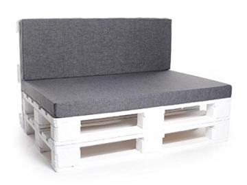 Palettenkissen, Matratzenkissen, Sitzbankauflage - verschiedene Sets wählbar - grau-2