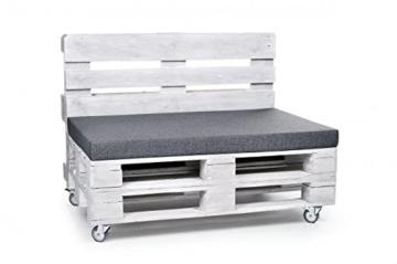 Palettenkissen, Matratzenkissen, Sitzbankauflage - verschiedene Sets wählbar - grau