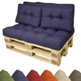 Wählbar Rückenkissen 1-teilig und 2 teilig & Sitzkissen - Farben wählbar
