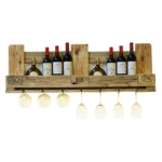 Weinregal aus Paletten-Regal Europaletten