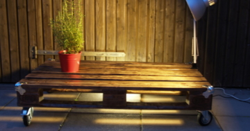 Tisch aus Paletten - Palettenmöbel