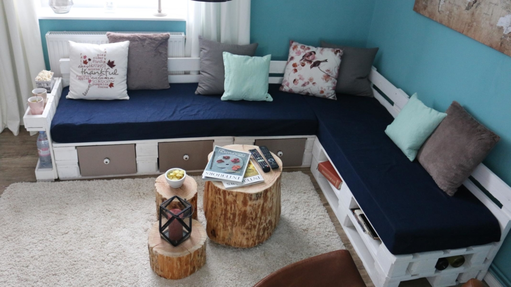ᐅ Palettensofa - Sofa aus Paletten   Anleitungen - Ideen & Shop