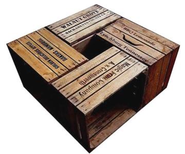 Alte Holzkisten 4er set alte gebrauchte holzkisten mit 4 verschiedenen motiven