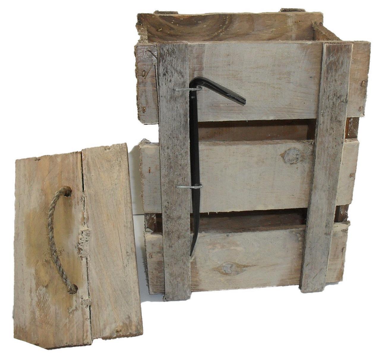 holzkiste mit brecheisen als geschenkbox oder berraschungskiste vintage. Black Bedroom Furniture Sets. Home Design Ideas