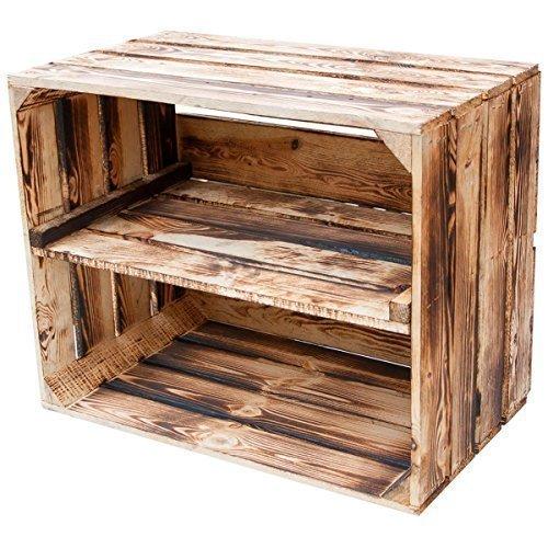 massive holzkiste mit zwischenbrett als schuh und. Black Bedroom Furniture Sets. Home Design Ideas