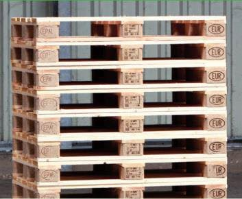 10 neue Europaletten für den Bau von Palettenmöbeln -