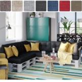 Palettenkissen Set Farben und Größen