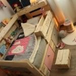 Kinderbett aus Europaletten - Palettenbett
