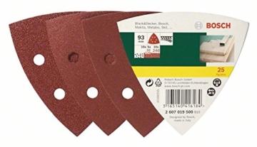Bosch DIY 25 teiliges Schleifblatt Set für Deltaschleifer - Körnung 60/120/240 - 6 Löcher-2