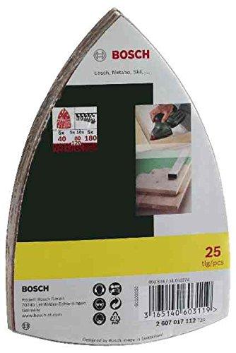 Bosch DIY 25 teiliges Schleifblatt-Set für Multischleifer - Körnung 40/80/120/180, 11 Löcher-4
