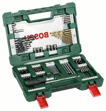 Bosch DIY 91 teilig - V-Line Titanium-Bohrer und Bit-Set + Ratschen Schraubendreher & Magnetstab-2
