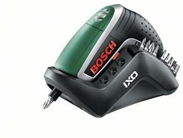 Bosch DIY Akku-Schrauber IXO Set -Winkelaufsatz - Exzenteraufsatz - 10 Schrauberbits - Ladegerät - Metalldose (3,6 V, 1,5 Ah)-4