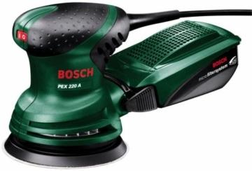 Bosch DIY Exzenterschleifer PEX 220 A – Ideal für Palettenmöbel geeignet -