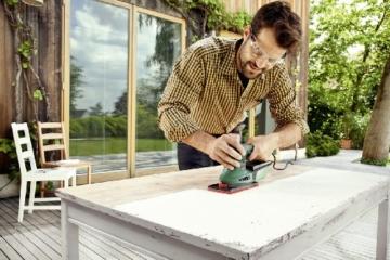 Bosch DIY Multischleifer PSM 200 AES mit dreieckiger und rechteckiger Schleifplatte-6