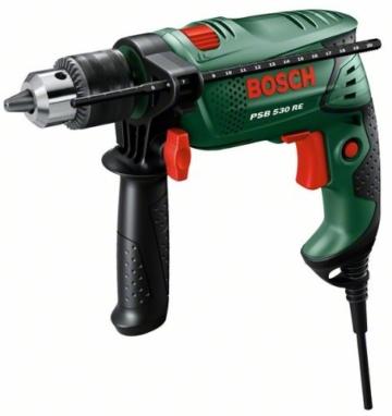 Bosch DIY Schlagbohrmaschine PSB 530 RE - Tiefenanschlag - Zusatzhandgriff - 530 Watt-2