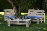Gartensitzgruppe aus hochwertigen Möbelpaletten - wählbar mit Füßen oder Rollen-2