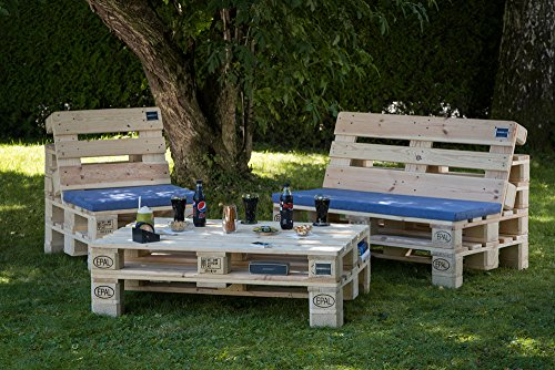 gartensitzgruppe aus m belpaletten w hlbar mit f en oder rollen. Black Bedroom Furniture Sets. Home Design Ideas