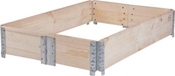 Hochbeet Aufsatz-Rahmen für Europaletten - faltbar 120 x 80 x 20 cm-4