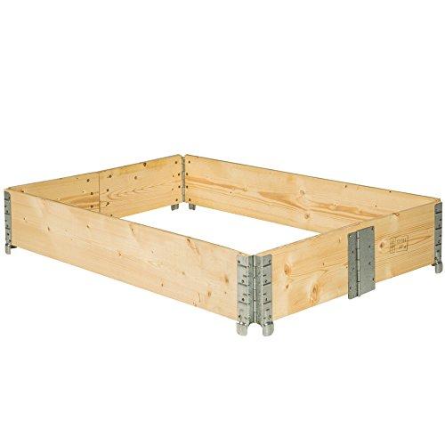 hochbeet rahmen aufsatzrahmen f r europaletten 19 cm hoch shop. Black Bedroom Furniture Sets. Home Design Ideas