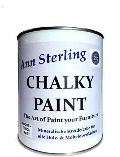 Kreidefarbe Shabby Chic Farbe - Chalky White - 1Kg -2