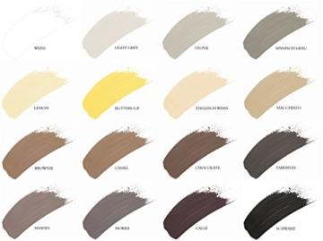 Kreidefarbe -  Shabby Chic - Landhaus Stil &  Vintage Look 1kg - brownie-4