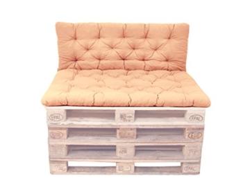 Palettenkissen mit Rückenlehne – Auflagen – ideal für Palettenmöbel – 3 verschiedene Farben -