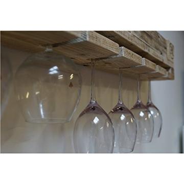 Palettenmöbel Weinregal mit Glashalter aus Europaletten - Regal aus Paletten-8