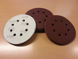 SBS Schleifscheiben Exzenterschleifer Klett-Schleifpapier Ø 125 mm 60 Stück-2