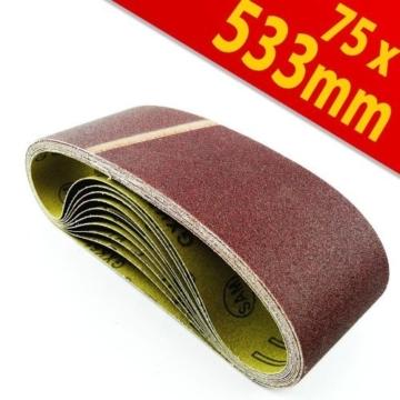 Schleifbänder Schleifband Bandschleifer 75x533mm 10Stck- K 80 -