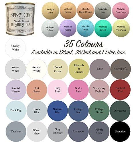 Shabby Chic Kreidefarbe Chalk Paint für Möbel Matte Oberfläche - 1 Liter-4