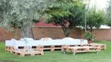 Sitzgruppe für Garten oder Terrasse aus Paletten - Palettenmöbel-2