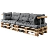 En.Casa Palettenkissen Set - 7-teilig - Sitzpolster + Rückenkissen - Paletten-Sofa Polster - Indoor & Outdoor-2