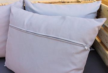 Paletten Sofa Polster Set - 8-teilig grau - blau - Palettenkissen & Palettenpolster-4