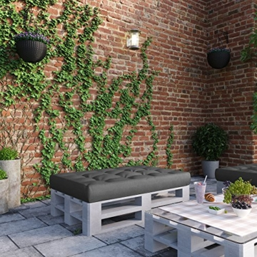 Palettenkissen Sitzkissen 120x80x15 cm - Indoor & Outdoor - Anthrazit-8
