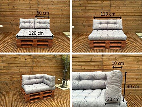 Palettenkissen - Palettenauflage - Sitzkissen - Rückenkissen - Outdoor Sets-6
