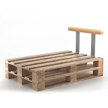 Set Holzlehne Lehne für Palettenmöbel 110cm & 70cm - Rückenlehne Palettenlehne Seitenlehne -6