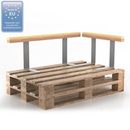 Set Holzlehne Lehne für Palettenmöbel 110cm & 70cm - Rückenlehne Palettenlehne Seitenlehne -2
