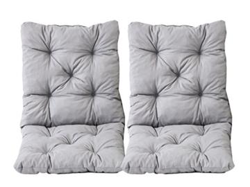2er Set Sitzkissen und Rückenkissen 50 x 98 x 8 cm – Outdoor & Indoor -
