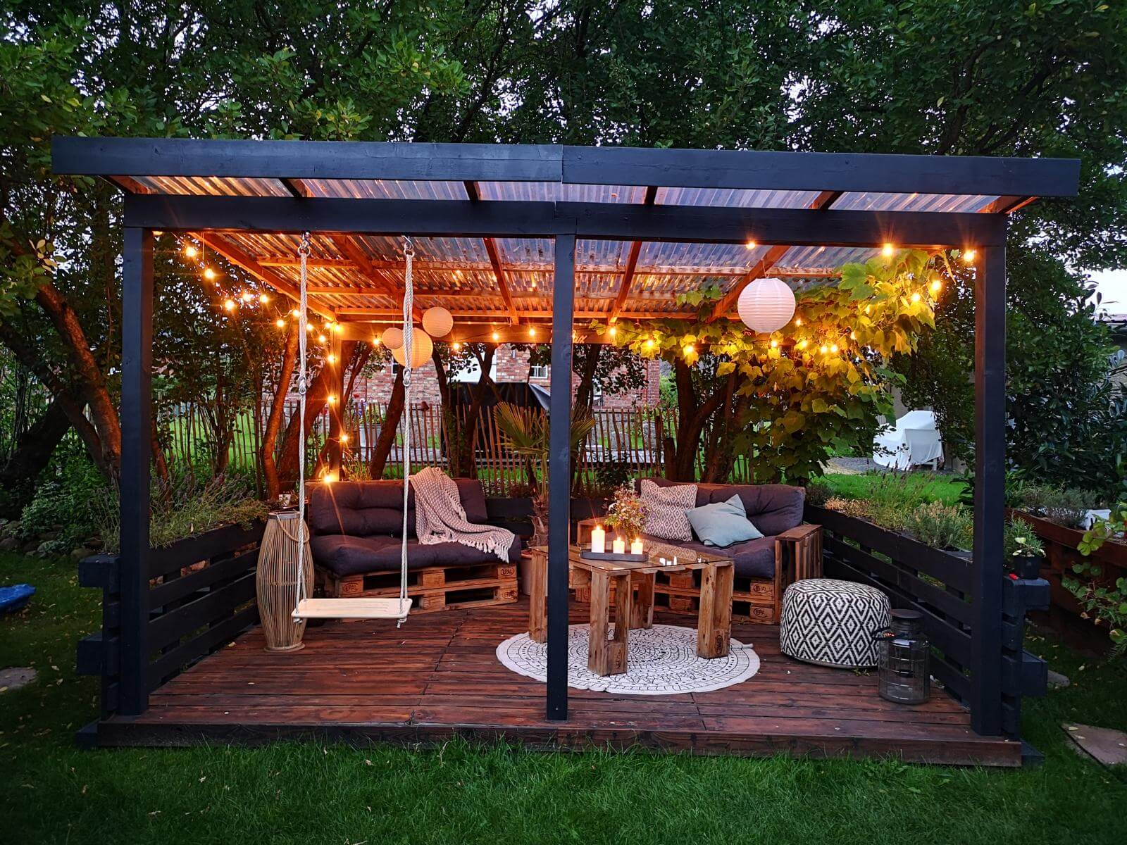 Gartenmöbel aus Paletten - Palettenmöbel Garten