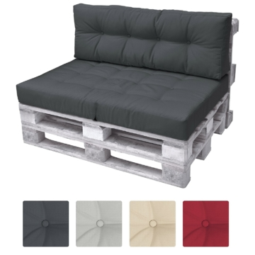 palettenkissen set 120x80x15cm 4 farben. Black Bedroom Furniture Sets. Home Design Ideas