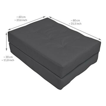 Palettenkissen - 120x80x15 - Verschiedene Sets in 4 Farben wählbar - Sitzpolster - Rückenkissen - Seitenkissen-8