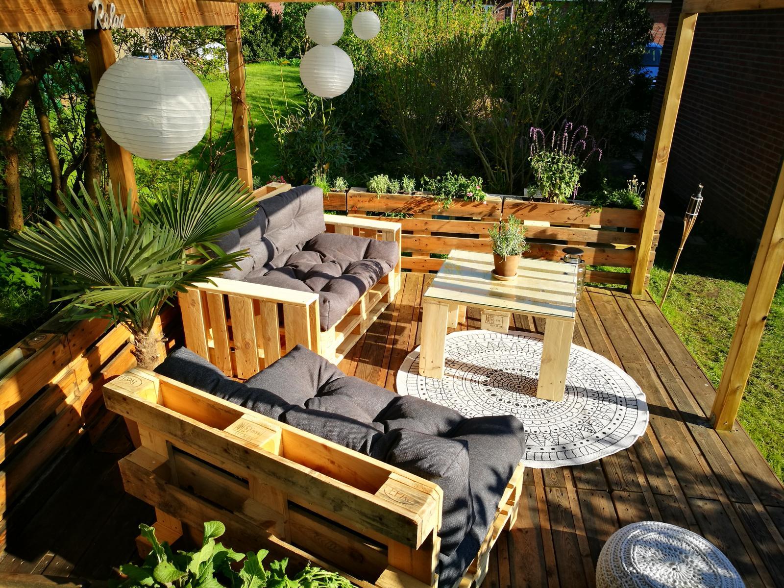 Palettenmöbel-Garten