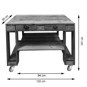 Basic Grilltisch aus Paletten Palettenmoebel Europaletten