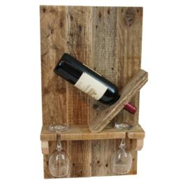 Flaschen Weinregal aus Europaletten Palettenmoebel